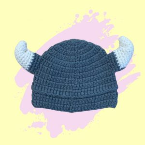 Knitted viking hat for kids