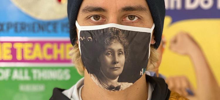 Emmeline Pankhurst Face Covering
